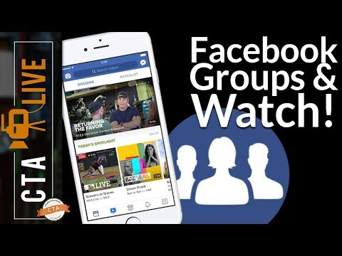 Facebook Groups for Churches and Facebook Watch