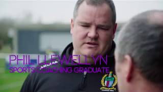 Phil Llewellyn, Sports Coaching graduate