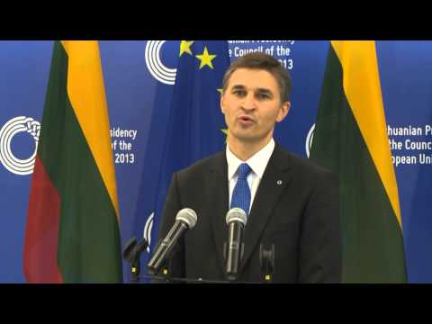 2013.09.19. Informal Meeting of Ministers for Energy. Statement by Minister Jaroslav Neverovič.