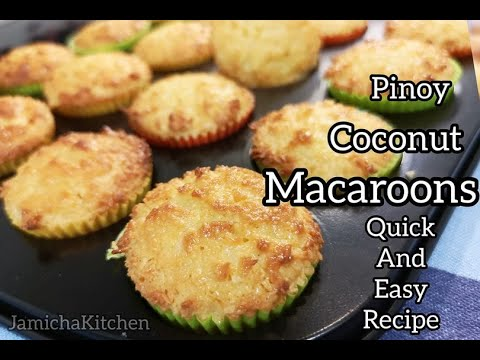 Easy Pinoy Coconut Macaroons Moist And Creamy Macaroons Recipe Youtube