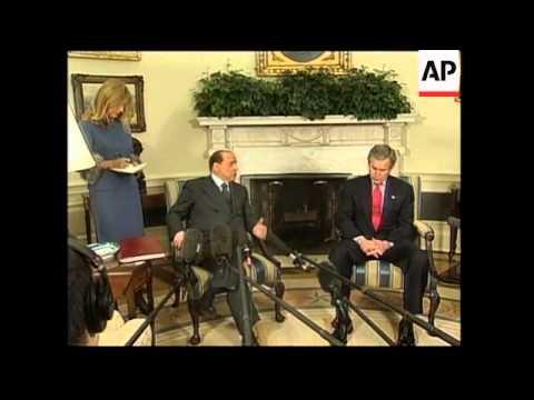 Bush with Berlusconi and Saudi FM presser at WH