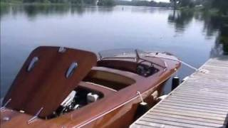Wooden Boats in motion, Clarion RA 23 barrelback
