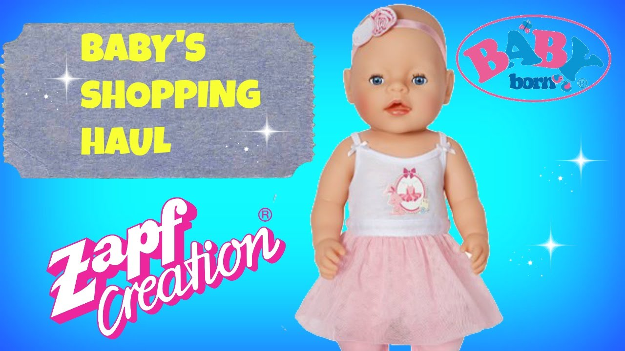 A Haul For My Baby Doll Baby Born Doll S Haul Youtube