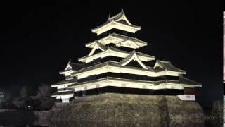 ハイパーラプスの練習に松本城のライトアップを撮影してみました。足場...