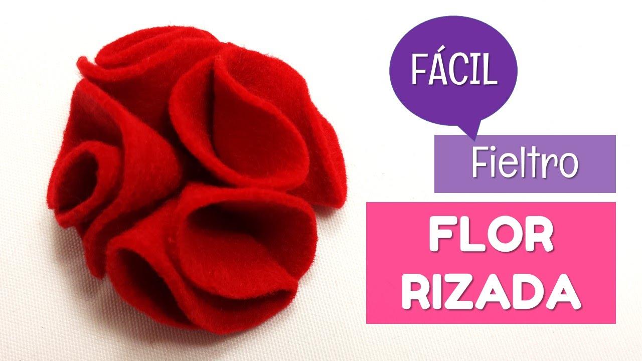 C mo hacer flores de fieltro f ciles con volumen - Como hacer figuras de fieltro paso a paso ...
