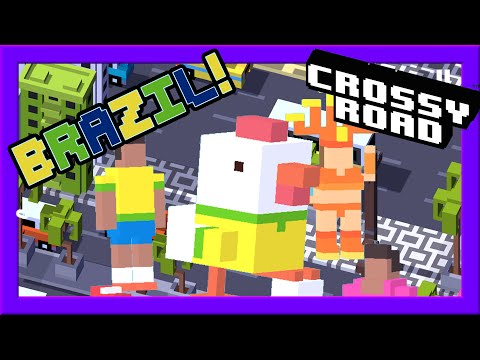 CROSSY ROAD BRAZIL Update! | NEW Secret Character & 12 Brazilian Characters | Carnival Gameplay 2016