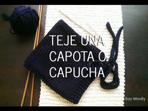 Teje una capucha/capota fácil y rápido con dos agujas o palillos ...