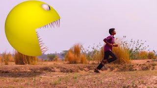 Pacman Vs Human In Real Life | VFX Breakdown