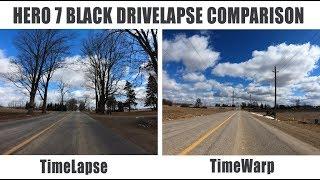 Time-Lapse Versus TimeWarp | Hero 7 Back Drive-Lapse Comparison
