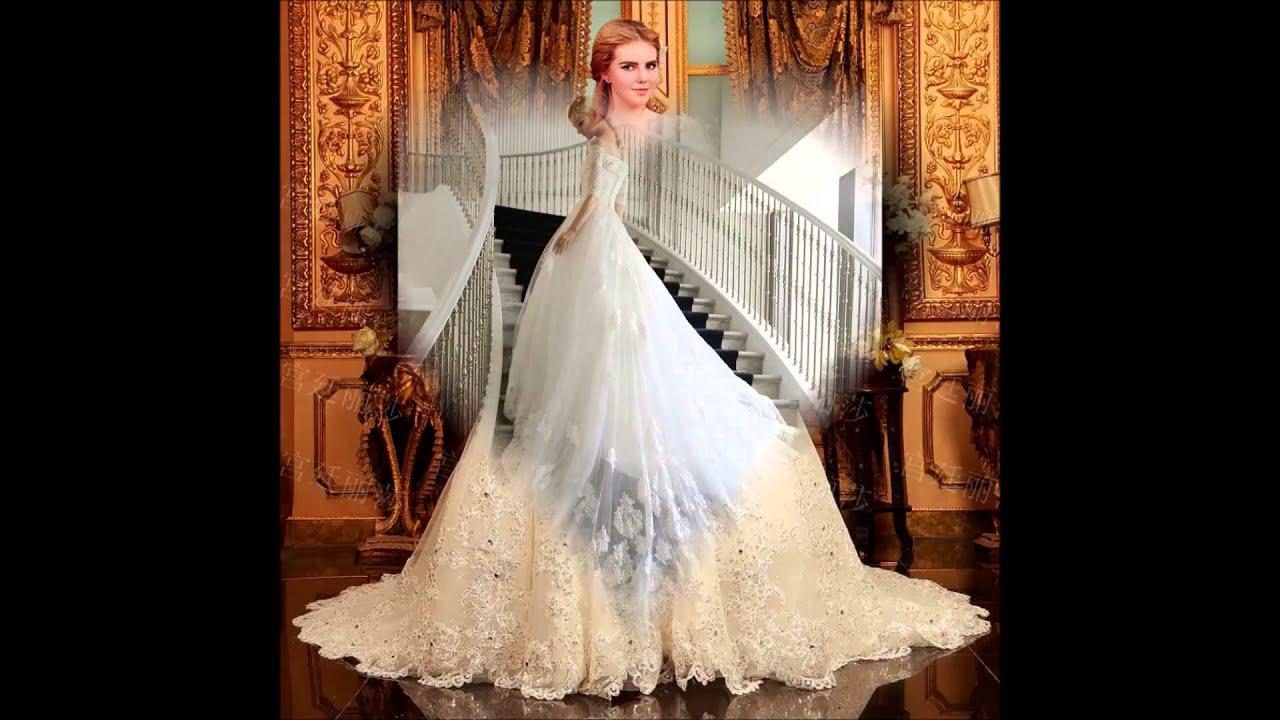 b87a11ac1 فساتين زفاف عمان - YouTube