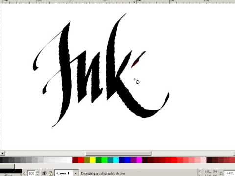 Inkscape Digital Calligraphy Youtube