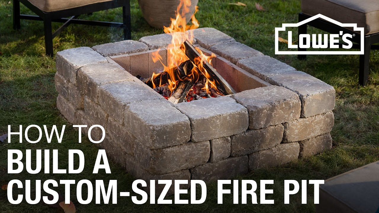How To Build A Custom Sized Fire Pit Youtube