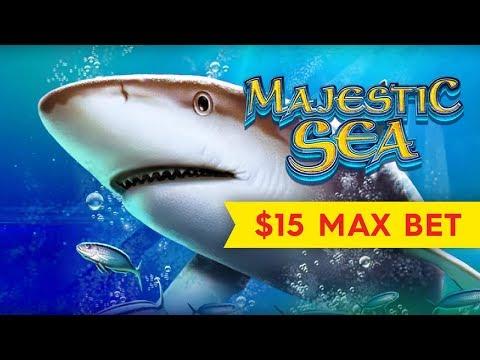 Majestic Sea Slot - $15 Max Bet - GREAT SESSION & Bonus!