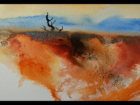 Semi Abstract Watercolor Demonstration Youtube