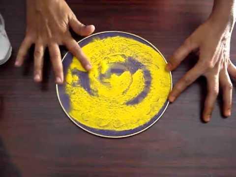 Making rangoli design using stencils youtube for Home made rangoli designs