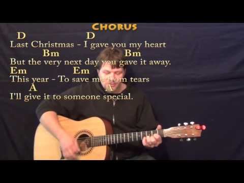 Last Christmas - Strum Guitar Cover Lesson in D with Chords/Lyrics