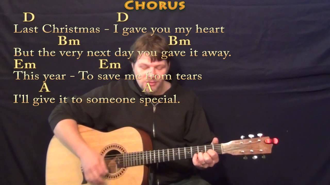Last Christmas Strum Guitar Cover Lesson In D With Chordslyrics