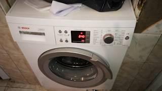 видео Ошибки стиральных машин Bosch Logixx 8