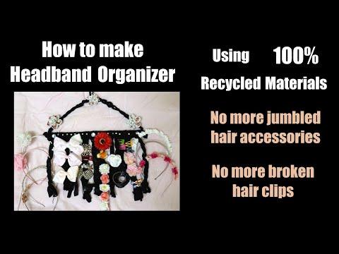 DIY Headband Organizer| Hair Accessories Storage Solution| How to make Hairband Organizer| Tutorial