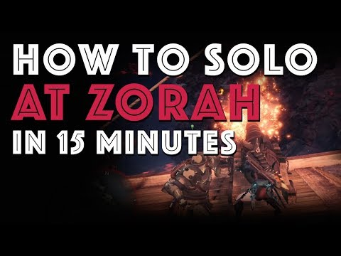 How to Solo Arch Tempered Zorah Magdaros in 15 minutes (MHW)