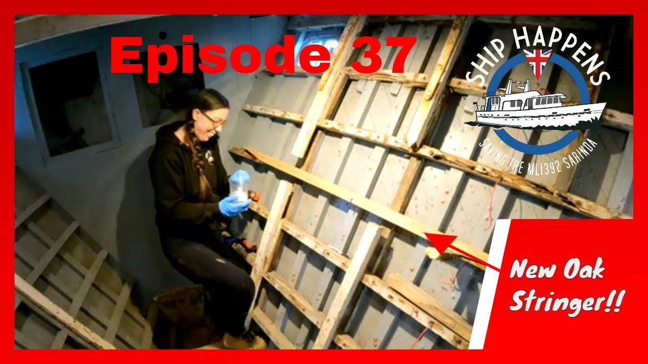 Ep 37 - Making & Fitting New Stringers For The Boat With Oak