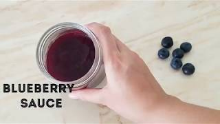 Homemade Blueberry sauce Recipe/HOW TO MAKE  BLUEBERRY SAUCE AT HOME IN URDU/HINDI BY KWF
