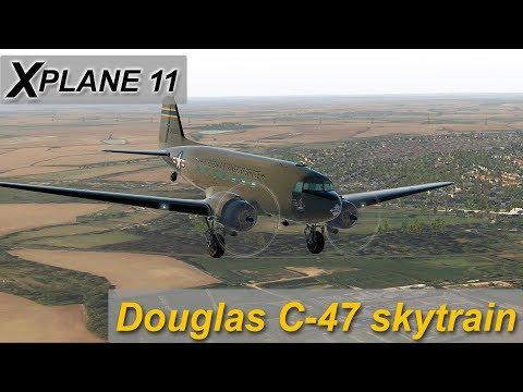 Xplane 11] Douglas C-47 Skytrain over England  (Amazing Free