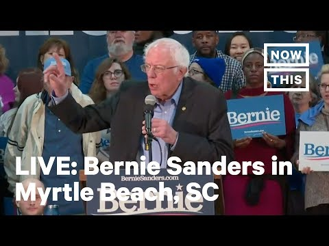 Bernie Sanders Campaigns In Myrtle Beach, South Carolina | LIVE | NowThis