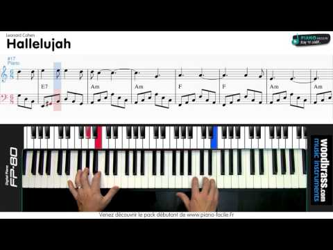 Hallelujah Leonard Cohen ( Jeff Buckley )- Tuto cover Piano