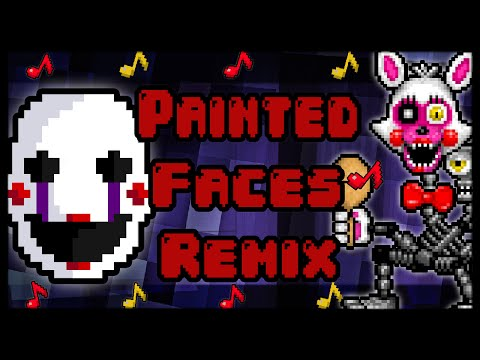 """""""Painted Faces""""♪ Five Nights At Freddy's REMIX (Trickywi & Rezyon) LYRIC VIDEO"""