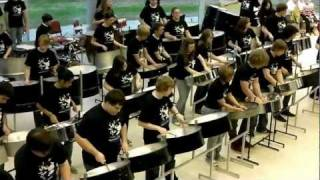 'Amazing Grace' on the steel pans by the Dover High School Steel Drum Band