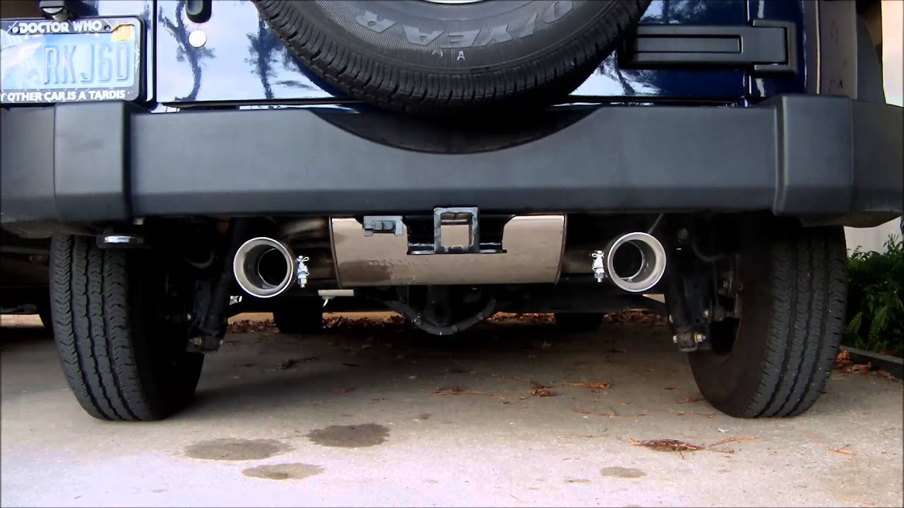 Jeep Jk Muffler >> 2013 JK stock exhaust vs Dynomax axle-back performance ...