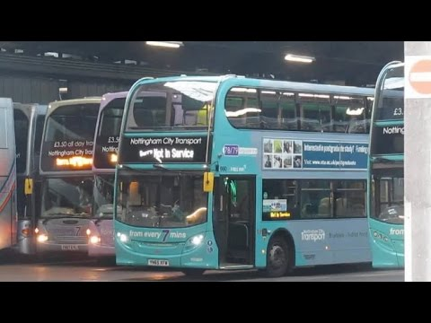 Morning Buses leaving Nottingham Parliament Street Depots