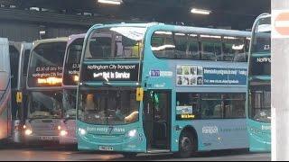 Morning Buses leaving Nottingham Parliament Street Depots
