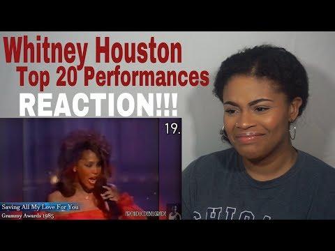 Top 20 Whitney Houston Performances // REACTION!!!