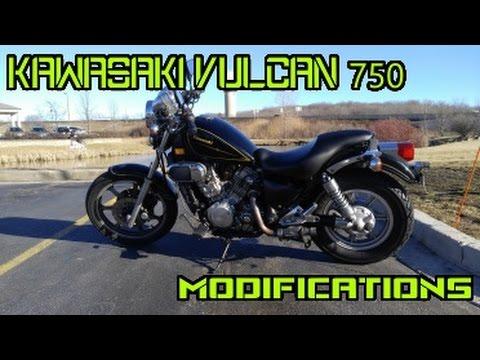 Modifying the Kawasaki Vulcan 750 - YouTube