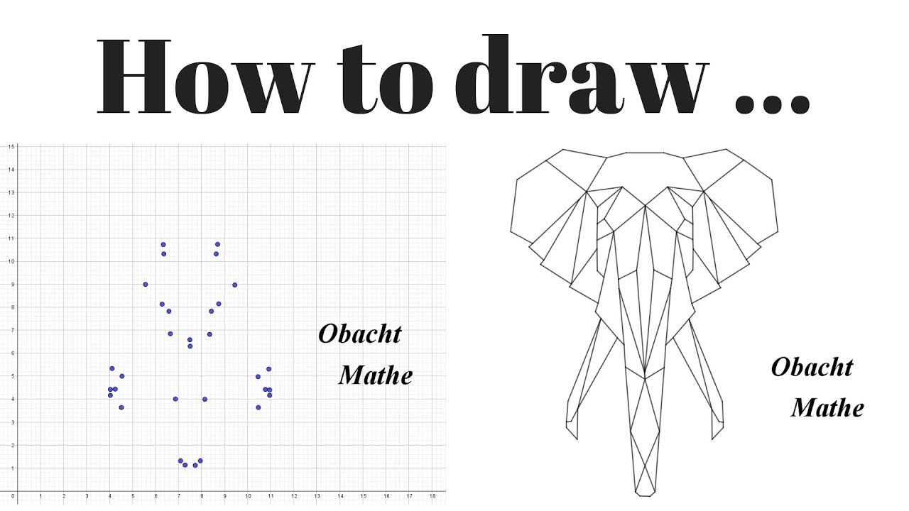 How To Draw An Elephant Head Geometric Step By Step Paint By Numbers