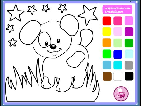 Online Coloring games for Preschoolers: Paint the city!