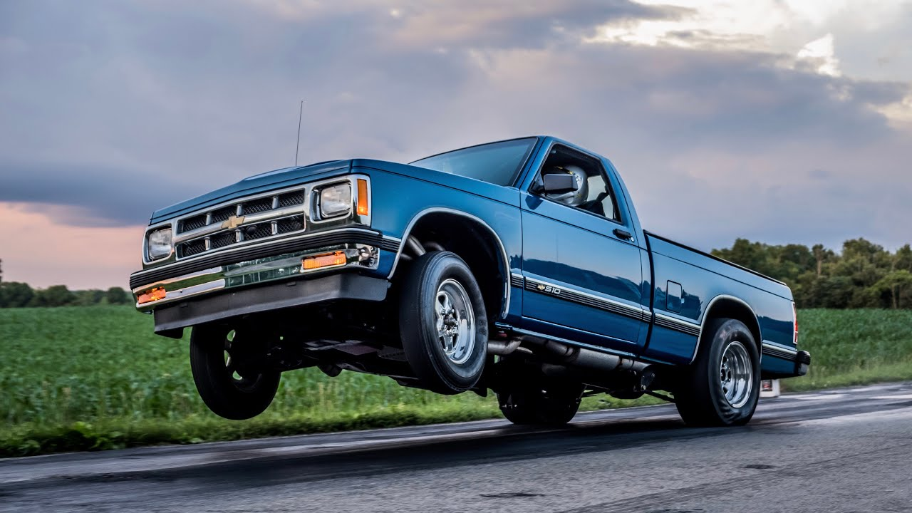Brothers Truck Does NITROUS WHEELIES on the Street.
