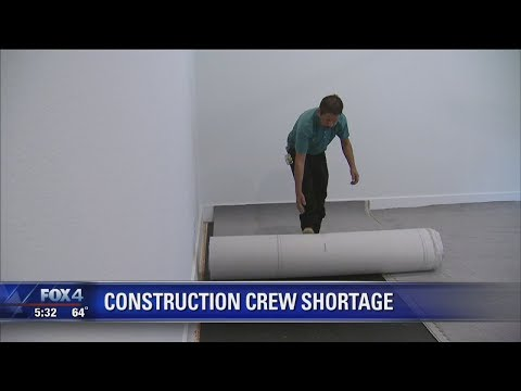 Booming Texas economy causing shortage of construction workers