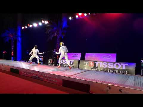 2014 Qatar Fencing World Cup Team Final   China vs Romania