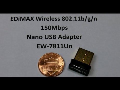 EDiMAX Wireless 802.11b/g/n Nano USB Adapter : Eye-On-Stuff