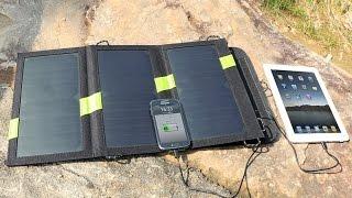 Солнечная батарея панель X-DRAGON 20W Solar Power Panel Charger аналог GOAL ZERO(Портативная складная многофункциональная Солнечное зарядное устройство, батареи. Другие мои видео - https://www..., 2016-03-02T13:03:47.000Z)
