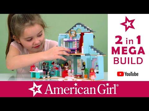 AMERICAN GIRL DOLL / MEGA BLOKS  BUILD / LEGO / GRACE'S 2 IN 1 HOME / STOP MOTION / NEW YORK STORE