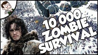 """Desperate Hardhome Survival Siege - 10000 Zombie v """"Wilding"""" Battle - Total War Warhammer Gameplay"""