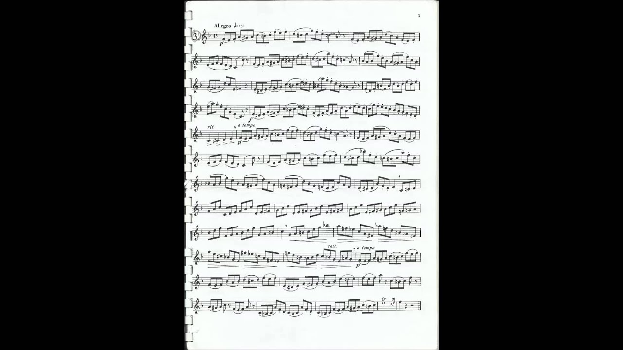 Wurm etude #12 for trumpet, 2012-2013 TMEA all-state audition etude no 1