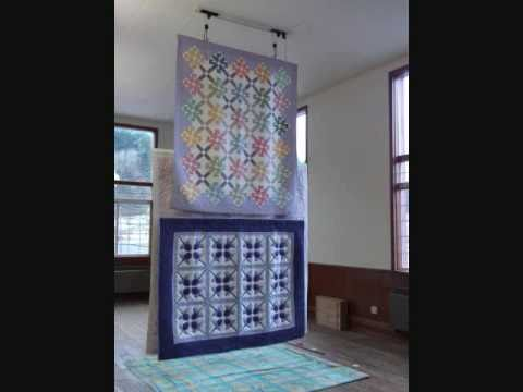 Back To Back Ceiling Quilt Hanging System Youtube