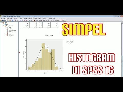 Langsung Bisa Grafik Histogram Distribusi Frekuensi Dengan Spss 16 Youtube