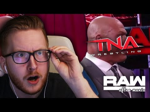 "WWE MENTIONS TNA WRESTLING ON WWE RAW ""TNA IS HIRING"" (WWE LIVE REACTION)"