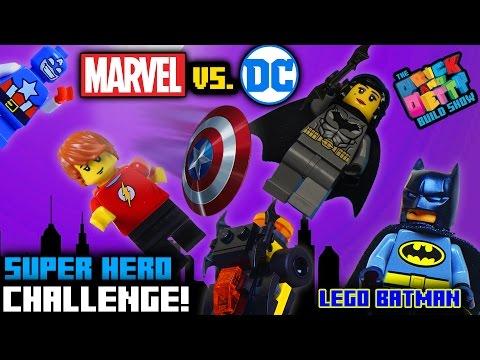 MARVEL vs. DC LEGO CHALLENGE!  (MIGHTY MICROS UNBOXING)    Brick & Betty